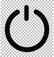power icon on transparent power symbol flat vector image vector image