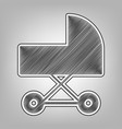 pram sign pencil sketch vector image vector image