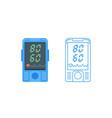 pulse oximeter icon pulse measurement determining vector image