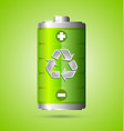 Recycled energy icon vector image vector image