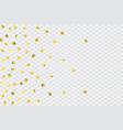 round gold confetti vector image vector image