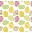 Seamless pattern with white easter eggs and polka