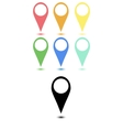 Set of flat map points vector image vector image