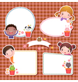 Set of four frames with cute cartoon kids vector image vector image