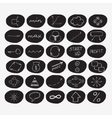 Set of hand-drawn start-up icons in black circles vector image vector image