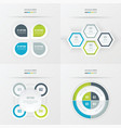 set of presentation design green blue gray color vector image vector image