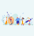 sick people characters concept set man with flu vector image vector image