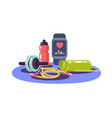 sports equipment health watch skipping rope vector image