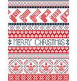 Tall xmas pattern with stockings in red blue vector image vector image