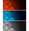 tech banners vector image