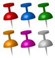 thumbtacks vector image