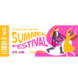 ticket concert composition vector image vector image