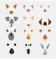 video mobile chat animal faces cartoon animals vector image vector image