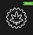 white line medical marijuana or cannabis leaf icon vector image vector image