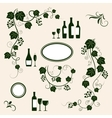 Winery design object silhouettes vector image vector image