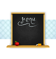 Wooden chalkboard for restaurant menu vector image vector image