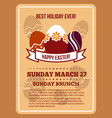 easter invitation flyer poster template vector image