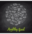 Hand drawn with healthy food vector image