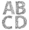 set of letters a b c and d vector image