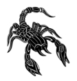 Abstract scorpion vector image
