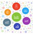 7 economy icons vector image vector image