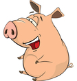 A cute pig farm animal cartoon vector image
