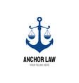 anchor law logo designs mature logo vintage vector image vector image