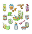 baby food child healthy nutrition and vector image vector image
