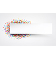 Banner with color drops vector image vector image