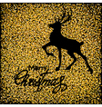 black deer on gold vector image