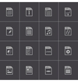 black file type icons set vector image vector image