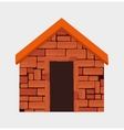 Brick wall design vector image vector image