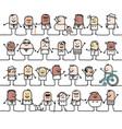 cartoon group mixed social and ethnically vector image