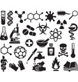 Chemical Icon Set vector image