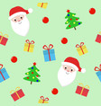 christmas and new year seamless pattern with vector image