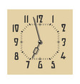 clock face in vintage color vector image vector image
