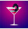 cocktail party club drink decorated vinyl disc vector image vector image