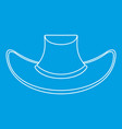 cowboy hat icon outline style vector image vector image