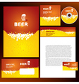creative corporate identity beer splash liquid vector image vector image
