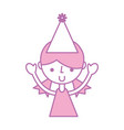 cute upper body girl cartoon vector image vector image