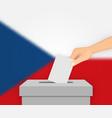 czech republic election banner background ballot vector image vector image