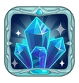 Fairy cartoon square crystals app icon vector image vector image