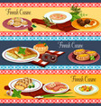 finnish cuisine restaurant menu banner set design vector image vector image