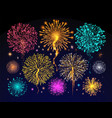 fireworks celebration holiday night sky light vector image