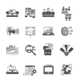 Freelance concept black icons collection vector image vector image