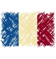 French grunge flag vector image
