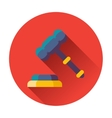 gavel with stand icon vector image vector image
