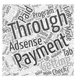 Getting paid through AdSense program Word Cloud vector image vector image