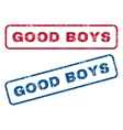 Good Boys Rubber Stamps vector image vector image