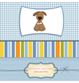 greeting card with small dog vector image vector image
